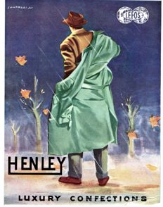 1954 Advertising for Henley Lefos Luxury Confections - Original