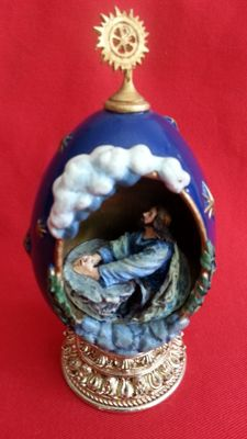 "House of fabergè "" the agony in the garden "" egg collector numbered signed"