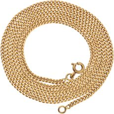 18 kt yellow gold curb link necklace - Length 60.1 cm