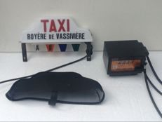 Taxi meter and Taxi roof light - Royere De Vassiviere - 1980