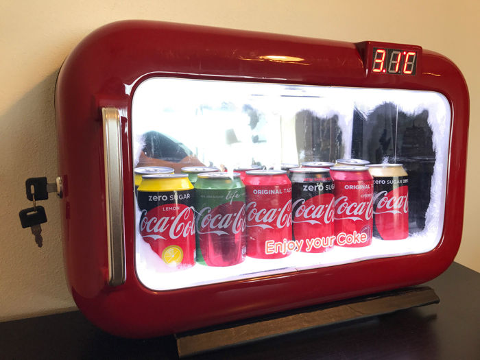 Coca-Cola Vitrine-display - Like-a-Fridge - eind 20e eeuw