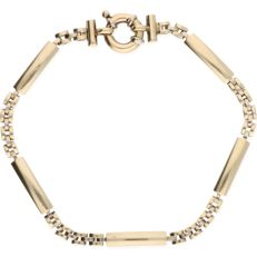 Yellow gold link bracelet of 14 kt - Length: 18.7 cm