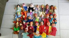 Collection of 31 hand puppets