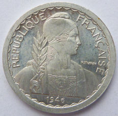 French Indochine - 5 cents 1946 Trial - Aluminium.