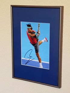 Rafael Nadal - Tennis legend, world number one - framed photo original signed + COA.