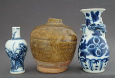 Three vases - China - 15th, 18th and 19th century