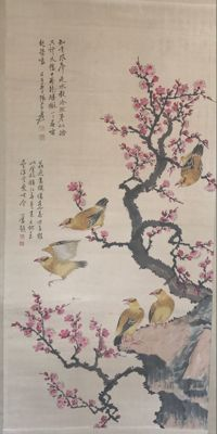 Flower and Bird painting – China – late 20th century