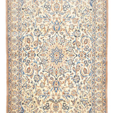 Hand-knotted Persian carpet, Nain - with silk - approx. 216 x 129 cm - Iran