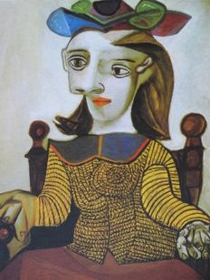 Pablo Picasso (after) - Seated Lady