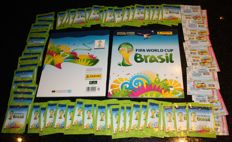 Panini - FIFA World Cup Brazil 2014 - 80 original unopened packets + 2 original empty albums