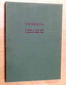 Venezia - 7 lithographs by Carlo Carrà - 14 poems by Alfonso Gatto