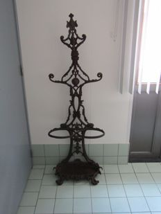 Cast iron coat rack / umbrella stand - foundry Corneau Charleville - France - ca. 1890