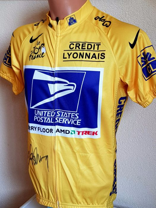 748f7e424 Lance Armstrong - hand-signed yellow jersey + COA. - Catawiki