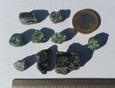 Rough emerald crystals - approx. 20 g. - 100 ct. (9)
