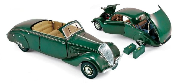 Norev - Scale 1/18 - Peugeot 402 Eclipse 1937 - Dark-green