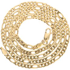 14 kt yellow gold Figaro link necklace - Length 49.9 cm