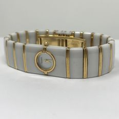 Ceramic Women's Rado Diastar 16 x 23 mm gold plated and ceramic