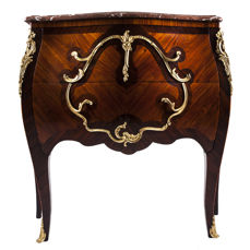 Commode with two drawers in Louis XV style - France - ca. 1880