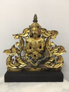 Wooden Gilt Angel Rattana-Kosin Period (ca. 27 cm) - Thailand - 19th century