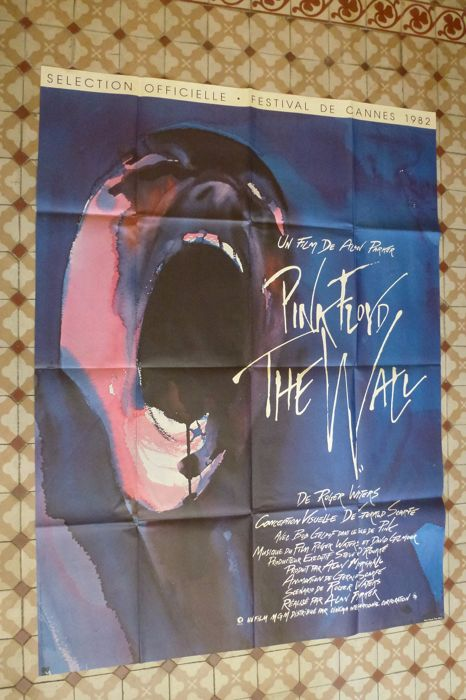 Original affiche of the film Pink Floyd The Wall 117 cm x 157 CM .1982.