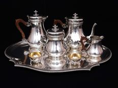 Sterling silver 7 piece service coffee -tea,  Boin-Taburet 1893-1900, France