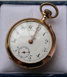 Gold pocket watch - unisex
