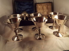 A joblot of silverplated wine and sherry goblets