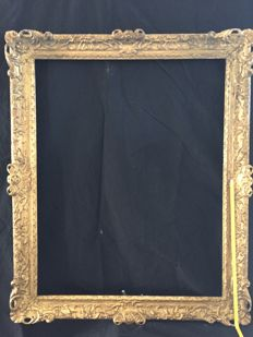 Louis XIV style gilt on gesso on pine picture frame - English - 18th century