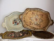 Set of 4 Italian trays