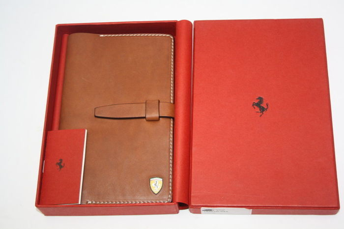 Original ferrari brown leather business card organiser with box original ferrari brown leather business card organiser with box reheart Image collections