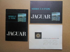 Jaguar - lot of 3 brochures Type E 2+2 from 1968 and series 3 of 1971