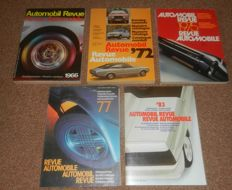 Automobil Revue yearbooks batch 1966 1972 1975 1977 1983 lot of five Automobil Revue yearbooks