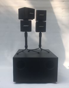 Bose Acoustimass AM-5 double/twin cube speaker system with stands