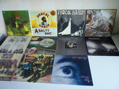 Lot with British progressive symphonic rock albums:10x Procol Harum or related albums: 7x Procol Harum (major albums)  and all 3 solo albums of Gary Brooker