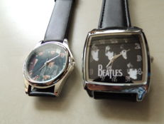 Two Beautiful  Beatles  Wrist Watches - Collectors Items From Legendary Band - Made From Steel & Leather