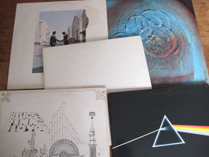 Nice Lot with 5 Great Albums of Pink Floyd