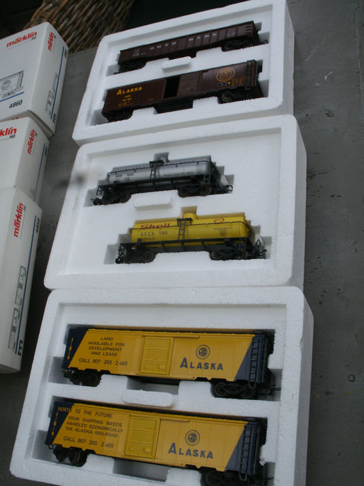 Märklin H0 - 4858/4860/4861 - 3 wagon sets Alaska USA