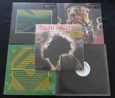 Reggae / Dub / Dancehall / Hip Hop: Nice batch of 3 albums (4LP's) and 2x 12inch single, including 1x limited edition on coloured vinyl! * Buju Banton / DJ Krush / Material / Peaking Lights / Lee Perry *