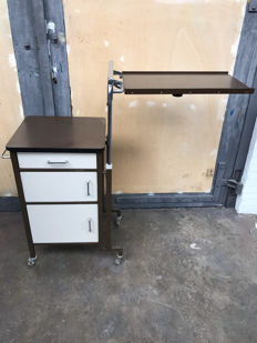 Designer unknown - Vintage, steel, mobile work table