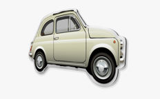 Halmo Collection Fiat 500 Plexiglass Model