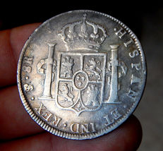 Spain – Carlos IV (1788-1808) – 8 Reales 1803 mint of Potosí PJ – Silver