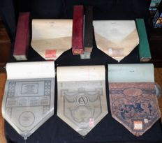 "5 Pianola / Player Piano rolls in original boxes, 1890-1920, Various origins (""Si Jétais Roi"" / ""Angel's Serenade""; ""Honey I'm In love with you""; ""Esta noche me emborracho""; ""Coppelia Ballet"")"