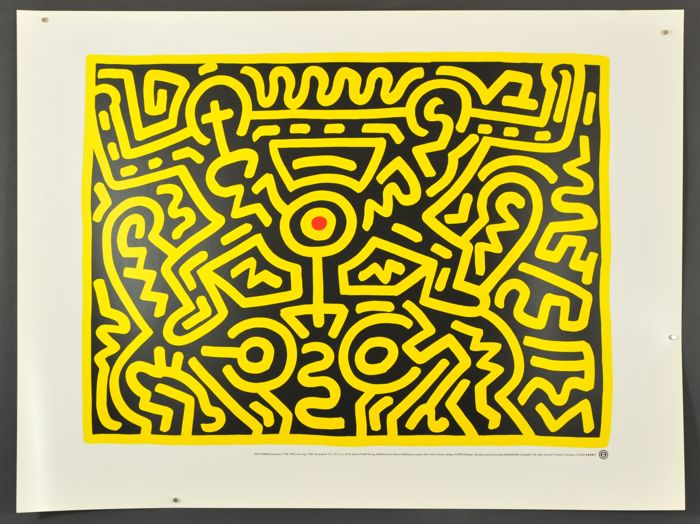 Keith Haring - Growing IV (1988) & Untitled $ (1987)