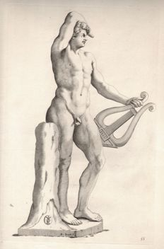 Michiel Natalis  (1610 - 1668 ) - Nude Apollo with his Lyre - Ca. 1635