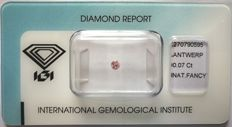 Natural Fancy Pink Diamond 0.07ct  with IGI cert *** no minimum price***
