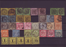 Old Germany – 1851/1868 – Baden, big collection,  very high catalogue value