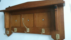 Oak coat rack - Art Deco