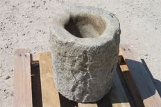 Ancient Large Stone Mortar - Italy - 19th/20th century