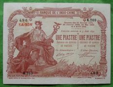 French Indo-China - Saigon - 1 Piastre 1909/1921 - Pick 34b