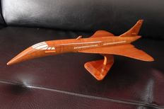 Model plane made from precious wood: Concorde 37cm